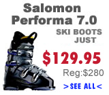 Salomon Performa 7.0 Ski Boots on sale. Skate Mart.